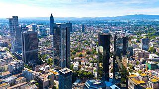 نمایی از شهر فرانکفورت، مرکز مالی و اقتصادی آلمان