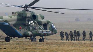 عکس آرشیوی از رزمایش نیروهای نظامی روسیه
