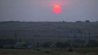 The incident occurred by the Ukrainian border, near Kamensk-Shakhtinsky.