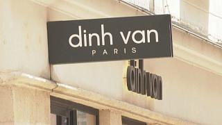 Police cordon off the area around Dinh Van jewellery store in Paris