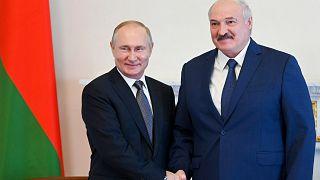 Rusya Devlet Başkanı Vladimir Putin ve Belarus Cumhurbaşkanı Aleksandr Lukaşenko / 13 Temmuz 2021, St. Petersburg, Rusya