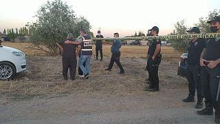 Konya'nın Meram ilçesinde aynı aileden 7 kişi öldürüldü. Olay sonrası polisin olay yeri incelemesi.