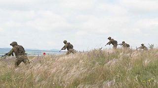 Soldados bielorrusos particpan en unas maniobras