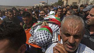 Στιγμιότυπο από την κηδεία 20χρονου Παλαιστίνιου