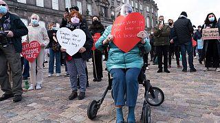 Danimarka'nın mülteci politikasına karşı protesto, Kopenhag