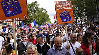 Manifestación en París contra el pase sanitario