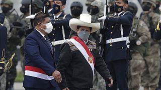El presidente peruano, Pedro Castillo, el día de su investidura