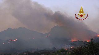 İtalya'da orman yangını