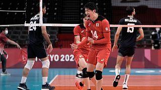 دیدار تیمهای والیبال ایران و ژاپن