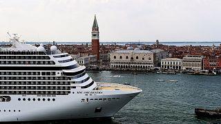 Archives : un paquebot à Venise, le 5 juin 2021