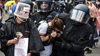 Festnahmen in Berlin bei Protesten gegen Corona-Regeln