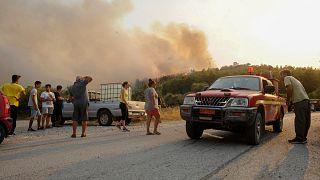 Εικόνα από τη μεγάλη πυρκαγιά στη Ρόδο