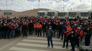 Huelga en la mina Escondida, Chile