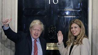 Boris Johnson y su esposa Carrie en imágen de archivo
