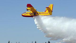 Yeni adıyla Bombardier olan Canadair tarafından üretilen yangın söndürme uçağı