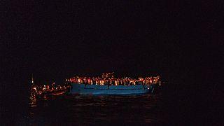 Akdeniz'de kurtarılan göçmenler