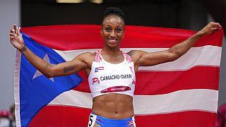 Jasmine Camacho-Quinn tras ganar el oro