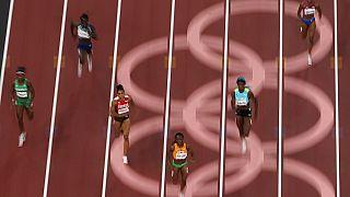 A női 200 méteres síkfutás egyik hétfői elődöntője