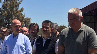 İçişleri Bakanı Süleyman Soylu, Tarım ve Orman Bakanı Bekir Pakdemirli ve Kültür ve Turizm Bakanı Mehmet Nuri Ersoy, yangınlara ilişkin açıklamalarda bulundu