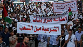 احتجاجات ضد الرئيس الفلسطيني في رام الله