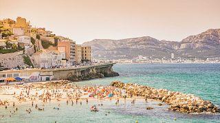 A beach in Marseille