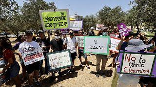 Filistinli aileler için destek gösterisi