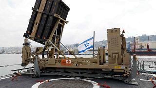 نظام دفاع القبة الحديدية، ميناء حيفا الشمالي، إسرائيل، 12 فبراير 2019
