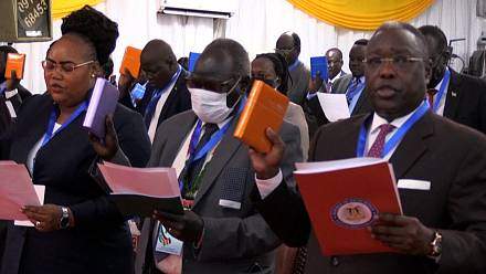 South Sudan swears in new parliament vowed under peace deal