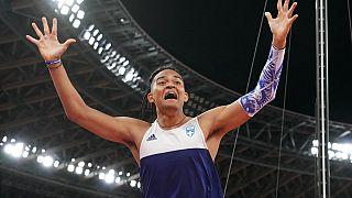 Ο Εμμανουήλ Καραλής σε προσπάθειά του στον τελικό του επί κοντώ στο Τόκιο