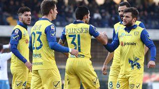 Sergio Pellissier in gol in Napoli-Chievo del 1.2.2015.