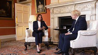Boris Johnsonnal tárgyalt Szvjatlana Cihanouszkaja
