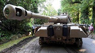 2. Dünya Savaşı'ndan kalma Almanya'ya ait tank