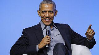 "Der ehemalige US-Präsident Barack Obama beim Event ""Gathering of Rising Leaders in the Asia Pacific"", organisiert von der Obama Foundation in Kuala Lumpur, Malaysia, 13.12.19"