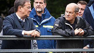 Armin Laschet und Olaf Scholz - Kanzlerkandidaten im Flutgebiet