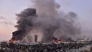 Beyrut patlaması sonrası bir kare