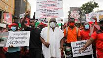 Ghana's protesters take to streets