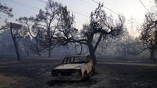شاهد: محاولات مضنية للسيطرة على الحرائق المستمرة في اليونان