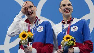 Российские синхронистки на Чемпионате мира по плаванию в Кванджу, Южная Корея, июль 2019 г.