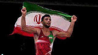 محمدرضا گرایی پس از کسب مدال طلا