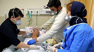 مستشفى شهداء تاجريش في طهران، إيران، 17 نيسان/  أبريل 2021.