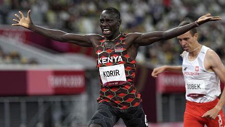 Kenya's Korir, Uganda's Chemutai win gold in heated races