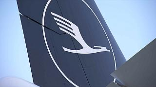 Avião da Lufthansa em terra