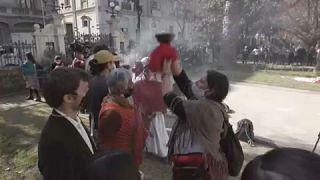 Ceremonia indígena de la Convención Constituyente
