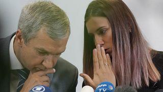 Timanowskaja auf der Pressekonferenz