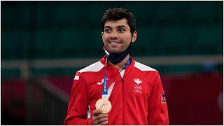 الأردني عبد الرحمن المصاطفة  يحرز البرونزية في منافسات الكاراتيه لوزن -67 كلغ في أولمبياد طوكيو