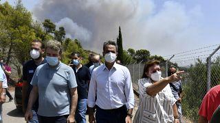 Tovább pusztít a tűzvész Görögországban