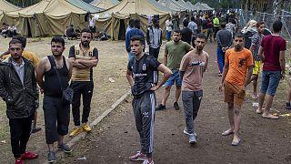Flüchtlingslager nahe Vilnius