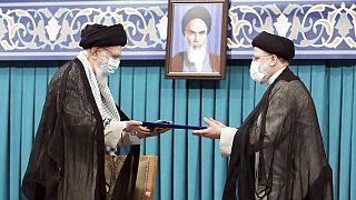 Supreme Leader Ayatollah Ali Khamenei endorses new President of Iran Ebrahim Raisi in Tehran