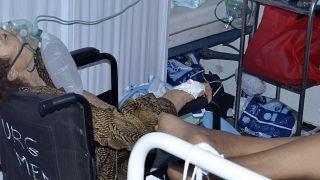 مرضى مصابون بكورونا في مستشفى بتونس