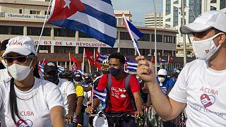 Miles de jóvenes comunistas han arropado al régimen en las calles de La Habana